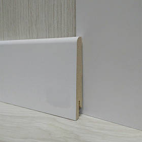 Плинтус МДФ Белый широкий 15х80х2400мм., Pedross Италия