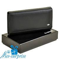 Натуральный кожаный женский кошелёк Dr. Bond W34-1 black (серия Classik), фото 1