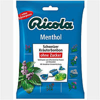 "Ricola Schweizer Kräuterbonbons ""Menthol"" - Леденцы для горла ""Ментол"""