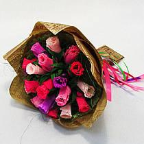 Букет из конфет Розы 19 Крафт