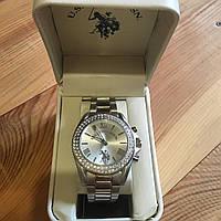 Женские часы U.S.Polo Assn (цвет серебро, с камнями)