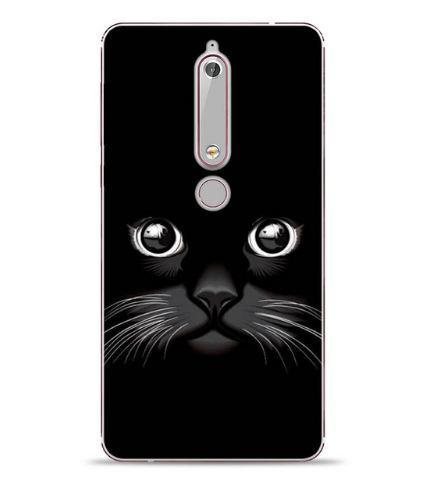 Бампер силиконовый чехол с принтом для Nokia 6 2018 Мордочка
