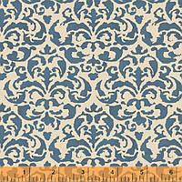 """Ткань для пэчворка и рукоделия американский хлопок """"Синий орнамент"""" - 22*55 см"""