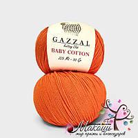Пряжа Baby cotton Gazzal (Бэби коттон Газал), 3419, оражевый