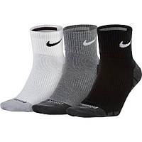 Комплект теннисных носков Nike Dry Lightweight Quarter (XL 46-50) SX6941-900 Разноцветные