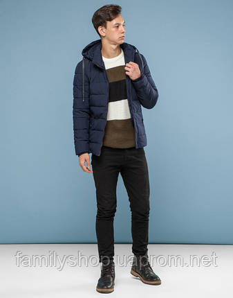 11 Kiro Tokao | Куртка на подростка зимняя 6015-1 синяя, фото 2