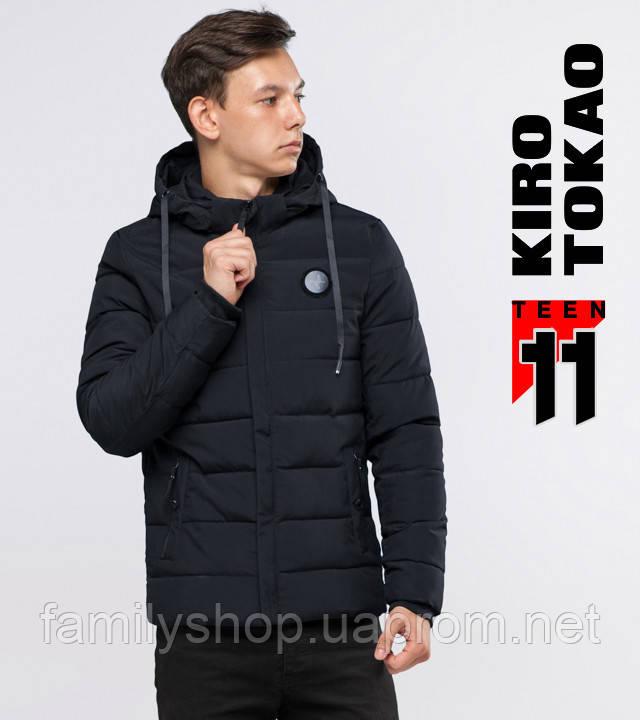 11  Kiro Tоkao   Зимняя куртка на подростка 6015-1 черная