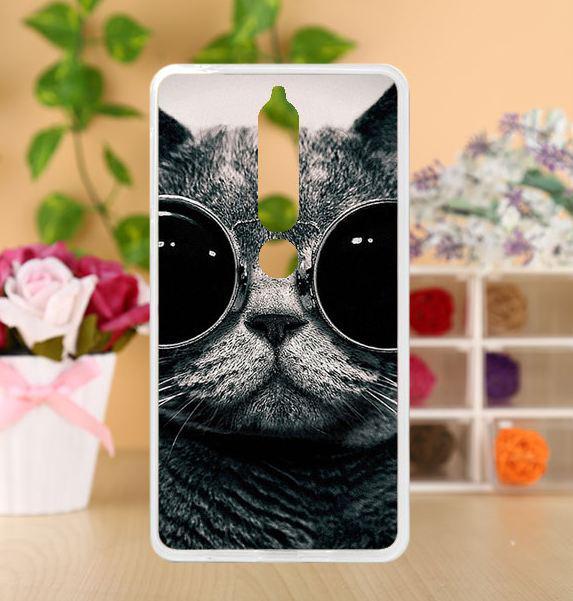 Чехол с картинкой бампер TPU для Nokia 6 2018 Кот в очках
