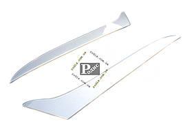 Реснички Nissan Almera Classic 2005-н.в. (Spirit) (серебро) - Накладки на оптику декоративные Ниссан Альмера
