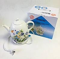 Електрочайник керамічний 1,5 л Domotec MS-5056 (дисковий), фото 1