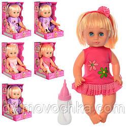 Кукла DEFA 5055, 34см, бутылочка, звук, микс видов, на бат(таб)