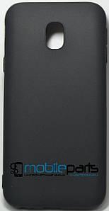 Оригинальный Силиконовый Чехол SMTT Samsung J3 J330 2017 (Черный)