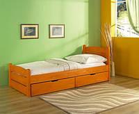 Ліжко односпальне з масиву бук Роман