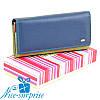 Натуральный кожаный женский кошелёк Dr. Bond W0807 blue (серия Rainbow)