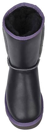 Мужские угги UGG Classic Short Leather Grey (Угги Австралия) серые, фото 2