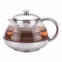 Чайник заварювальний Kamille 800мл скляний з фільтром