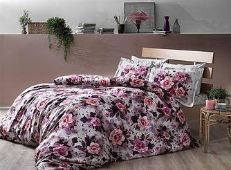 Двуспальное евро постельное белье TAC Octavia Mor Сатин-Digital