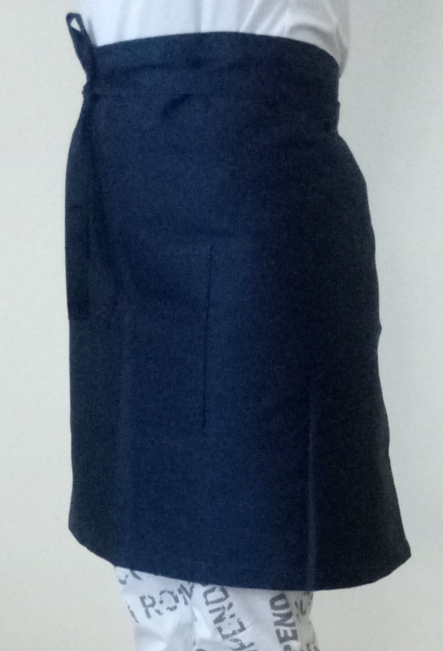 21059 Фартук для официанта  темно- синий Саржа - 210