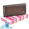 Натуральный кожаный женский кошелёк Dr. Bond W0807 coffee (серия Rainbow)