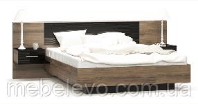 Кровать Фиеста 160 912х2652х2089мм дезира аш темный   Мебель-Сервис