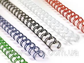 Металлические пружины для переплета  6,4 мм белые 100шт