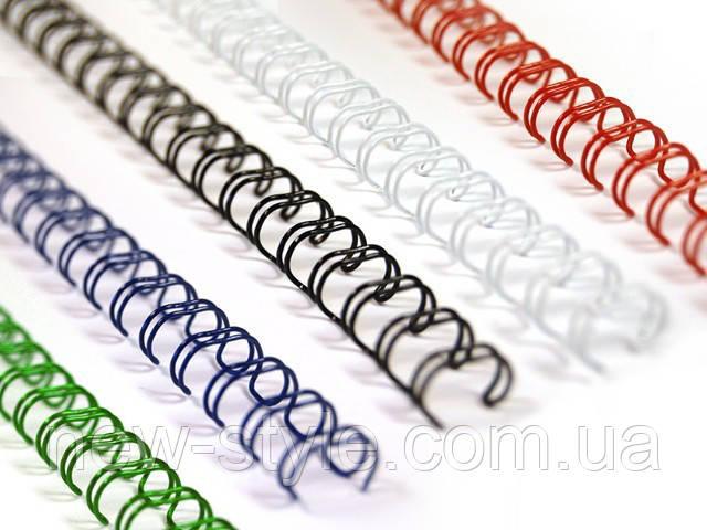 Металлические пружины для переплета 14,3 мм белые 100шт