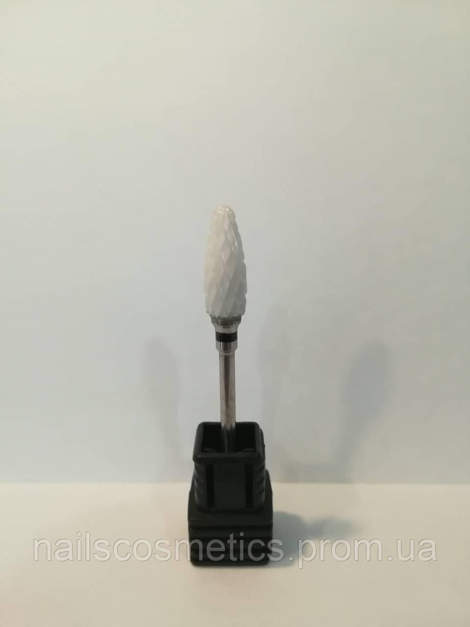 "№15 ХС 3/32"" Flame ST (C) фреза керам. для гель-лака ""Черная"" Кукурузка"
