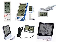 Цифровые термометры. Гигрометры. Домашние метеостанции.
