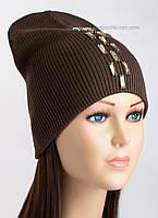 Удлиненная шапка-колпак Холли шоколад