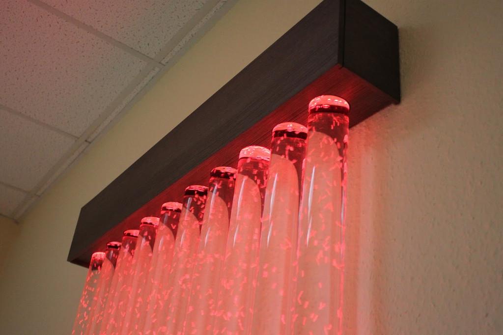 Пузырьковая колоннада в офисе 2