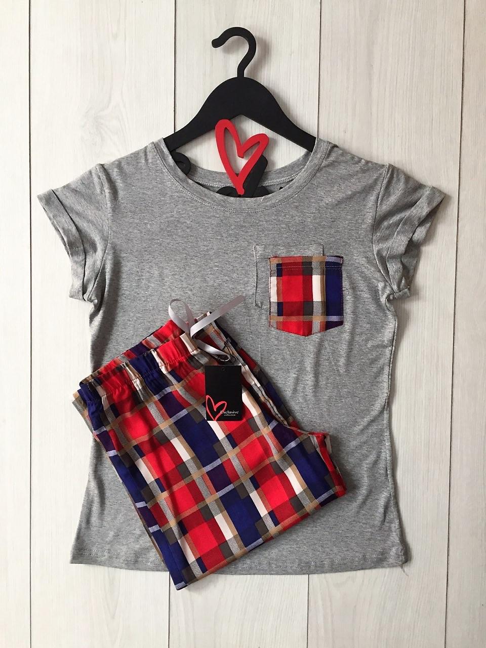Легкий комплект для дома и сна, футболка и штаны