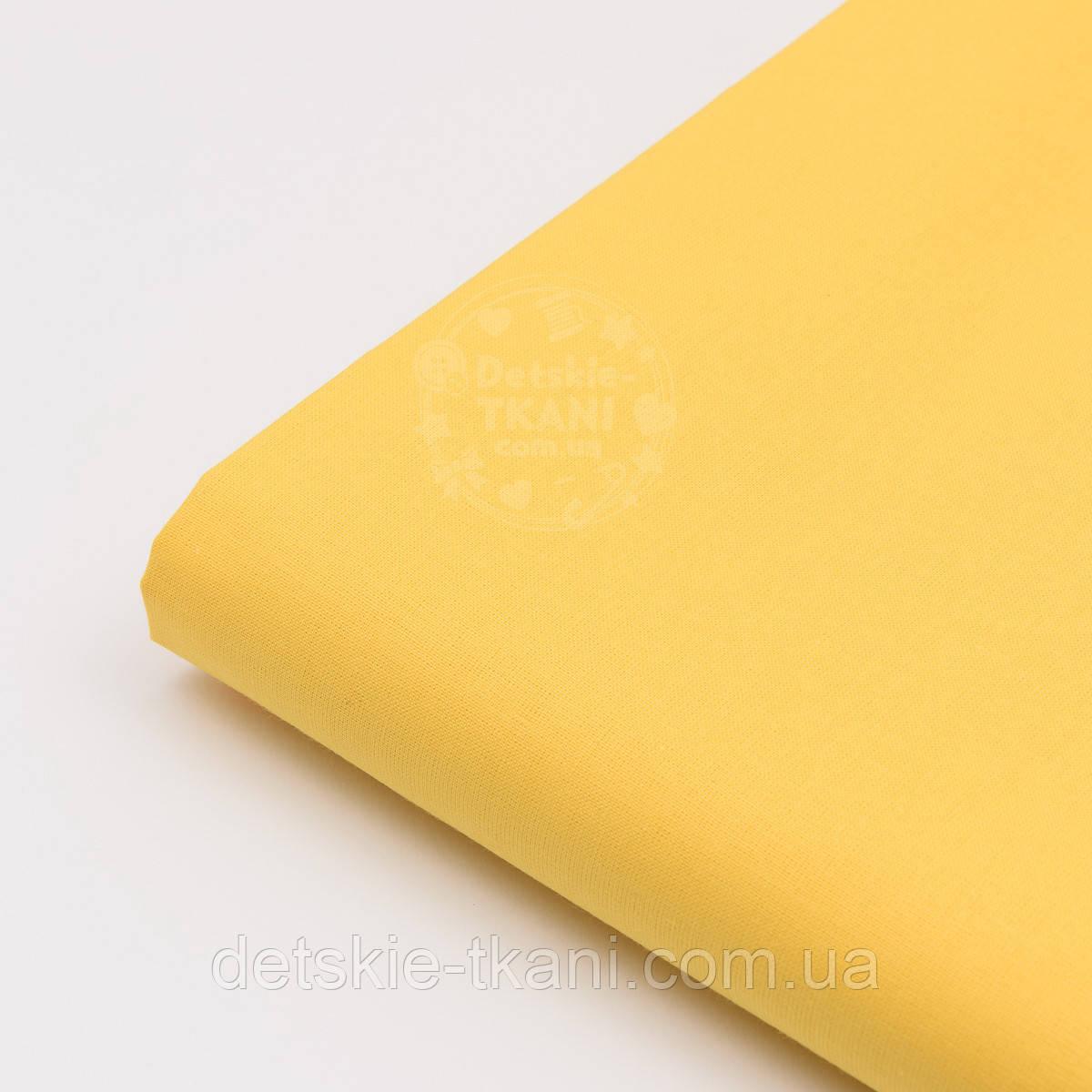 Лоскут ткани №35а тёмно-жёлтого цвет, размер 72*76 см