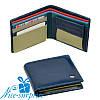 Натуральный кожаный женский кошелёк Dr. Bond WRS-6 blue (серия Rainbow)