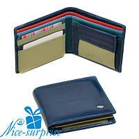 Натуральный кожаный женский кошелёк Dr. Bond WRS-6 blue (серия Rainbow), фото 1