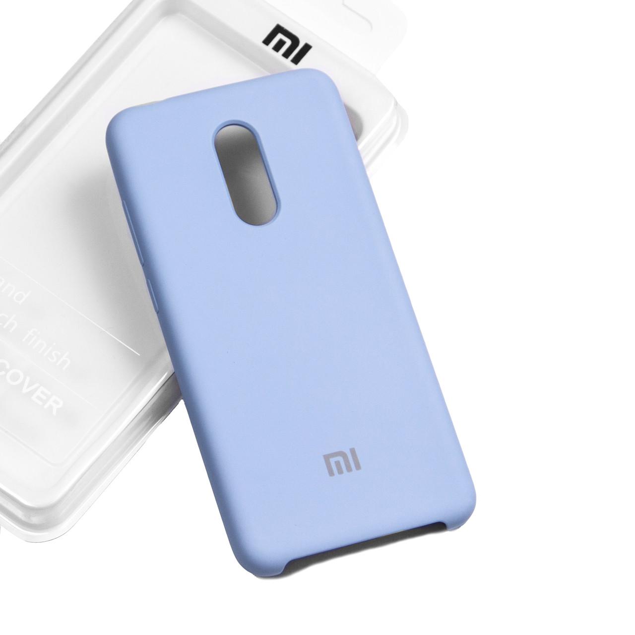 Силиконовый чехол на Xiaomi Redmi 5 plus Soft-touch Sky Blue