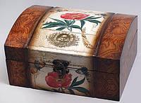 "Деревянная шкатулка ""Дженнифер Flower Wild Rose"", 20x16.5x10см"