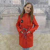 """Кашемировое пальто -парка""""Пчела"""" красный, фото 1"""