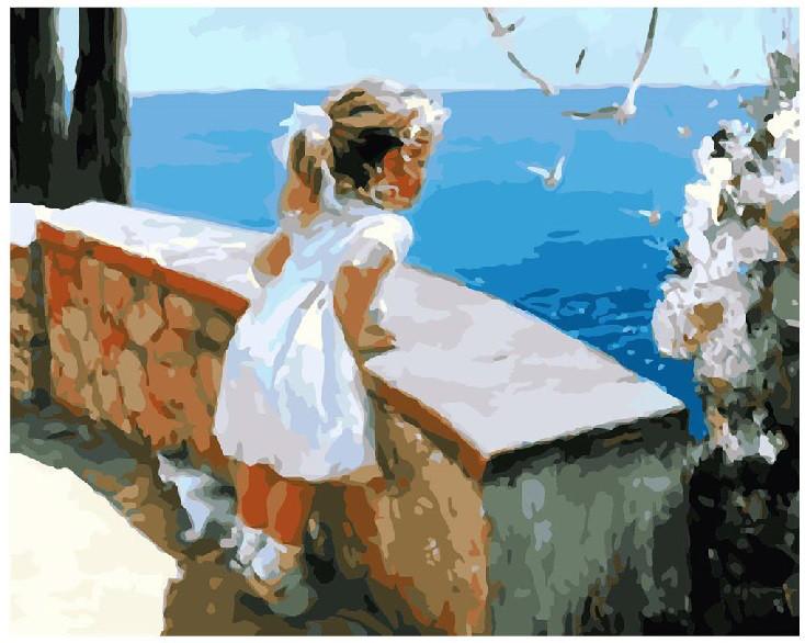 """Картина по номерам """"Ласковое море"""", 40x50 см., Brushme"""