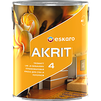 Краска глубокоматовая Eskaro Akrit 4, 9,5л. Фарба для стін та стелі