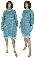 Платье женское теплое 18073 Redgen Mentol Melange вязанный трикотаж стрейч-коттон начес, р.р.58-60, фото 1
