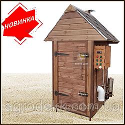 Коптильня 250л -холодного и горячего копчения, +просушка. Ольха  внутри, крыша домиком
