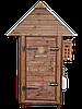 Коптильня 250л -холодного и горячего копчения, +просушка. Ольха  внутри, крыша домиком, фото 2