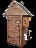Коптильня 250л -холодного и горячего копчения, +просушка. Ольха  внутри, крыша домиком, фото 3