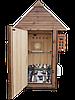 Коптильня 250л -холодного и горячего копчения, +просушка. Ольха  внутри, крыша домиком, фото 4