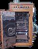 Коптильня 250л -холодного та гарячого копчення, +просушування і конвекція. Нержавіюча сталь всередині, дах плоский, фото 2