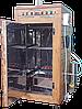 Коптильня 250л -холодного та гарячого копчення, +просушування і конвекція. Нержавіюча сталь всередині, дах плоский, фото 3
