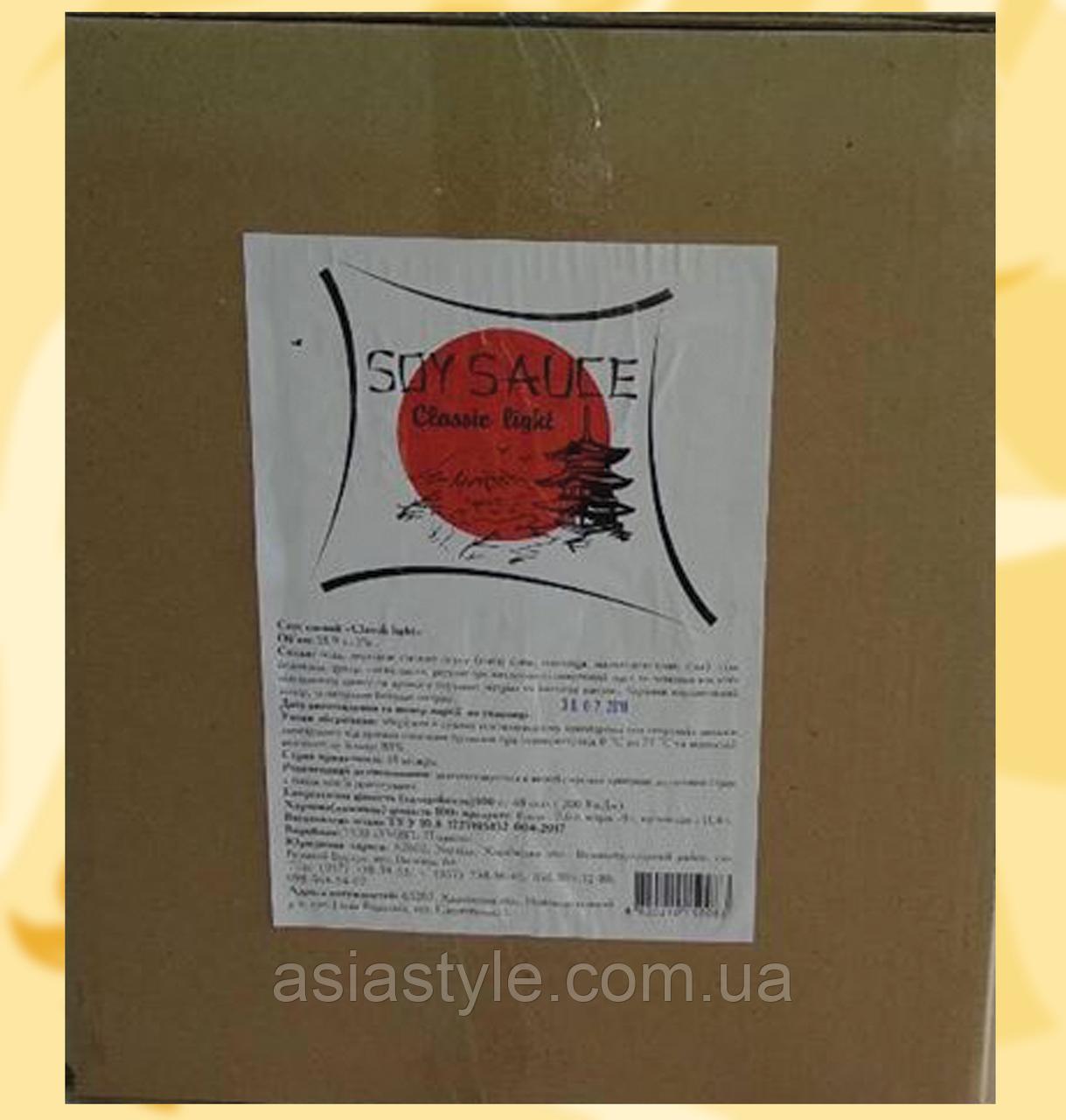 Соєвий соус, Soy Sauce Premium, Класичний соєвий соус високої концентрації, 20л, Хар