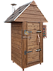 Электростатическая Коптильня 250 л -холодного и горячего копчения, +просушка. Нержавейка внутри, крыша домиком, фото 2
