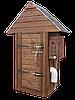 Электростатическая Коптильня 250 л -холодного и горячего копчения, +просушка. Нержавейка внутри, крыша домиком, фото 3
