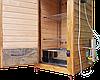 Коптильня 550л -холодного и горячего копчения, +просушка. Ольха  внутри, крыша плоская, фото 4